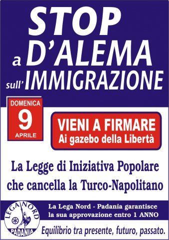Stop a D'Alema e all'immigrazione
